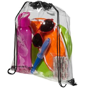 image of CL-563S  Clear Drawstring Backpack